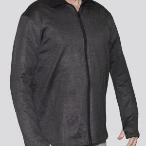 Cut-Tuff™ Cut Resistant Full Zip Polo-Neck Long Sleeved Jacket Grey