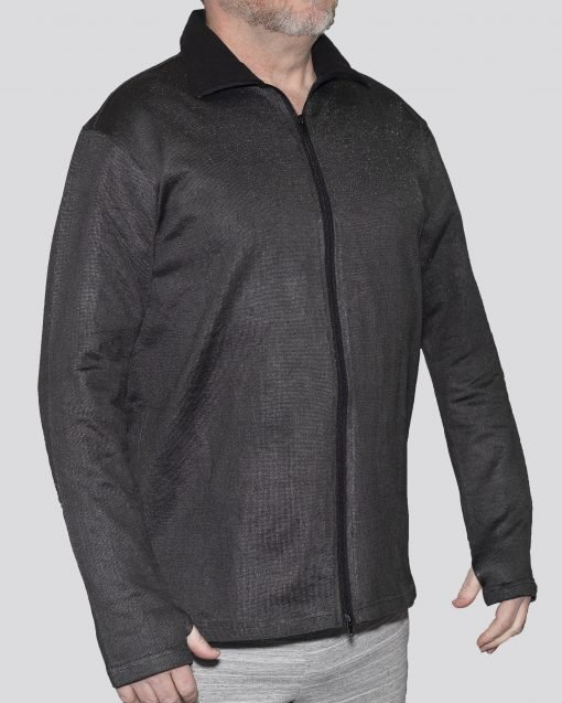Cut-Tuff™ Cut Resistant Full Zip Polo-Neck Long Sleeved Jacket Grey