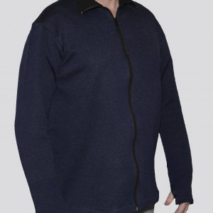 Cut-Tuff™ Cut and Bite Resistant Full Zip Polo-Neck Long Sleeved Jacket Navy