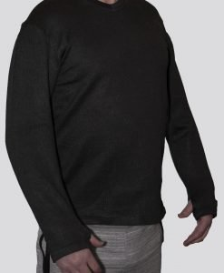 Cut-Tuff™ Cut Resistant Long Sleeve V-Neck Shirt Grey best cut resistant clothing