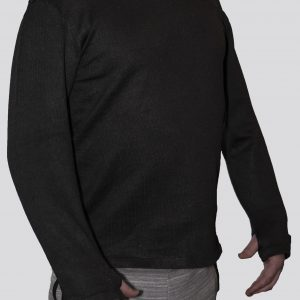 Cut-Tuff™ Cut Resistant Long Sleeve V-Neck Shirt Grey best cut resistant clothing