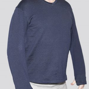 Cut-Tuff™ Cut Resistant Long Sleeve V-Neck Shirt Navy best cut resistant clothing