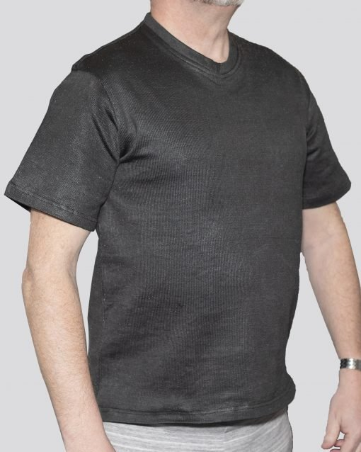 Cut-Tuff™ Cut Resistant Short Sleeve V-Neck T-Shirt Grey