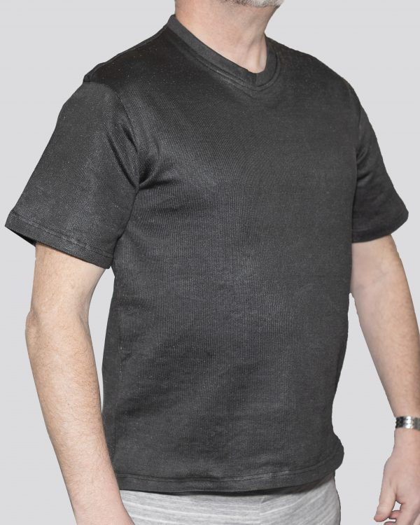 Cut-Tuff™ Cut Resistant Short Sleeve V-Neck T-Shirt Grey