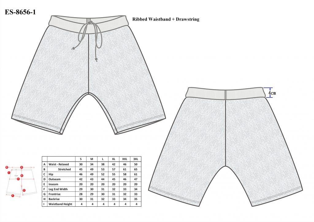 Cut-Tuff™ Cut Resistant Boxer Shorts Size Chart