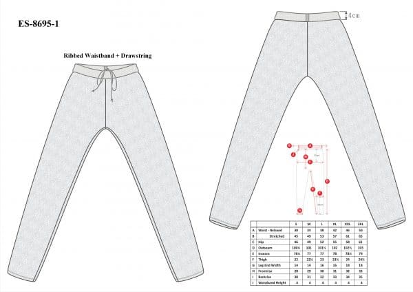 Cut-Tuff™ Cut Resistant Long Johns Size Chart