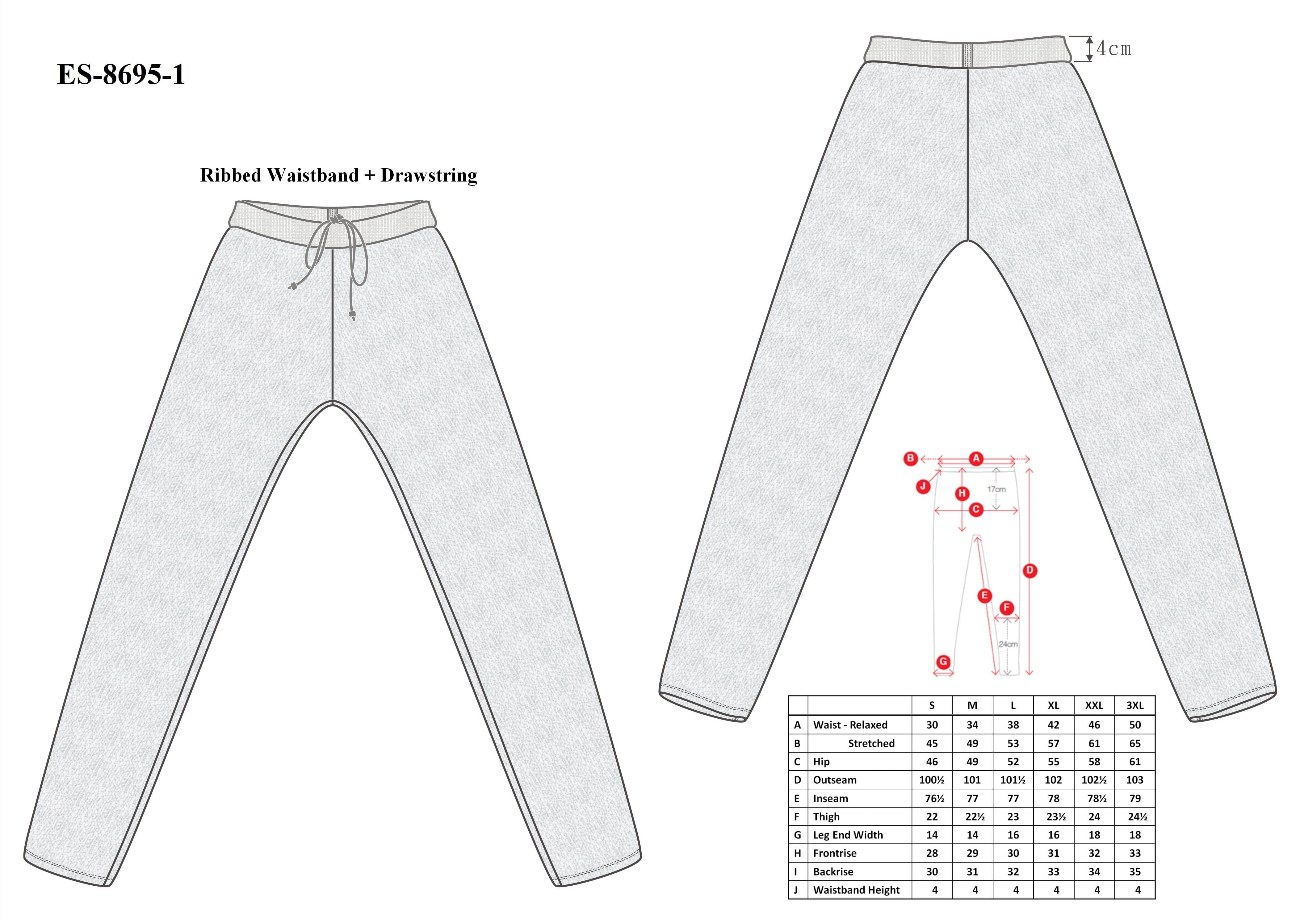 Cut-Tuff™ Cut Resistant Long Johns Size Chart
